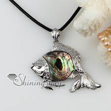 pearl pendant necklace wholesale images Fish sea water rainbow abalone shell mother of pearl pendants jpg