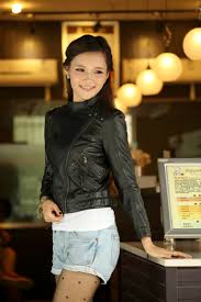 all black motorcycle jacket women u0027s black slim fit short leather motorcycle biker jacket