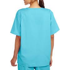 halloween scrubs tops unisex short sleeve v neck scrub top with pocket walmart com