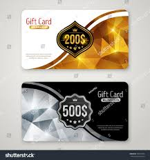 holiday invitation cards set gift cards polygonal pattern label stock vector 520510204