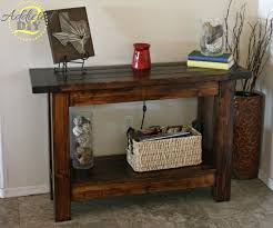 Rustic Livingroom Furniture by Furniture Rustic Honey Wooden Entryway Table With Undershelf For