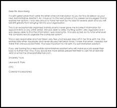 administrative assistant recommendation letter livecareer