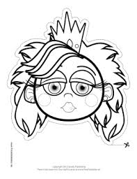 princess outline mask features outline long haired