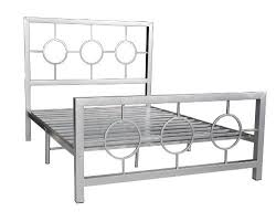home furnishings queen size metal bed frame with decorative