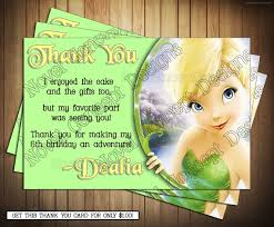novel concept designs tinkerbell birthday invitations and thank