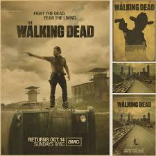 aliexpress com buy rick grimes posters wall sticker the walking