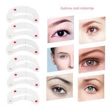 Shaping Eyebrows At Home Amazon Com Winomo Eyebrow Stencils Kit Soft Magic Easy Makeup