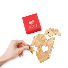 wooden heart jigsaw you complete me