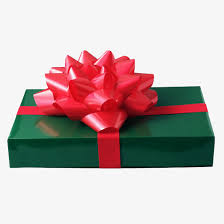 wrapped gift box a beautifully wrapped gift box coloured ribbon gules big