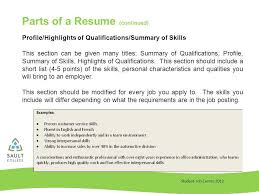 What Should Be In The Summary Of A Resume Student Job Centre 2012 Resume Writing Student Job Centre Rules