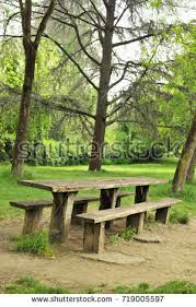 Wooden Table With Bench Wooden Bench Stock Images Royalty Free Images U0026 Vectors