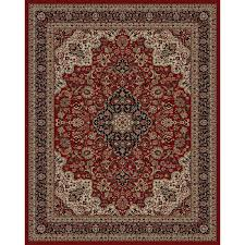 Round Burgundy Rug by Shop Style Selections Daltorio Red Rectangular Indoor Woven