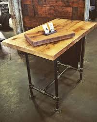 Diy Bar Height Table  Theltco - Adjustable height kitchen table