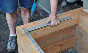 How To Build A Raised Flower Bed How To Build A Raised Garden Bed With Sleepers Bunnings Warehouse