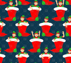 christmas stocking and santa elf pattern little claus helper
