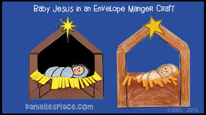 baby jesus in a manger envelope craft for kids youtube