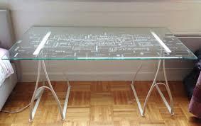 bureau ikea verre et alu bureau verre ikea bureau bureaux et tables chaises de bureau et