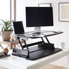Desk Height Adjusters by The Pro 36 Is A Standing Desk Sized To Accommodate Those With Dual