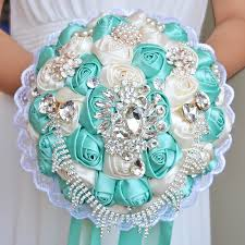 Cheap Wedding Bouquets 2017 Bridal Bridesmaid Wedding Bouquet Cheap New Luxury Crystal