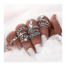 knuckle rings images Fashion vintage knuckle rings 10 pieces silver ng jpg