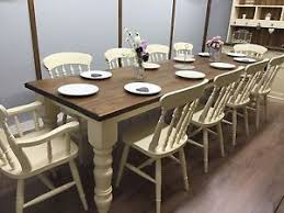 10 ft farmhouse table 10ft farmhouse table 10 chairs rustic oak pine country cottage large