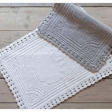 tappeto blanc mariclo blanc maricl祺 tappeto bagno crochet frame collection colore bianco