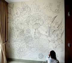 a sharpie wall mural doodled entirely with sharpies within a a sharpie wall mural doodled entirely with sharpies within a period of 3 days the