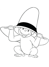 curious george coloring pages birthday games happy eating banana