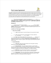 land lease agreement template 7 land lease templates free sle exle format free