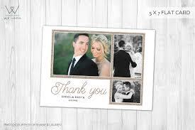 wedding thank you card wedding thank you card card templates creative market