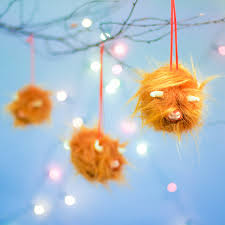 coos highland cow tree ornaments or baubles