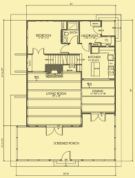 Main Level Floor Plans Vacation Cabin Plans Small Home With Huge Screened Porch