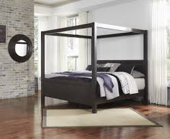 Black Canopy Bed Daltori Black King Canopy Bed B273 72 62 99 Complete Beds