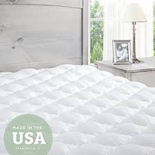 amazon com pillowtop mattress pad with fitted skirt extra plush