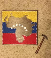Venezuela Flag Colors Venezuela Flag Overlay String Art Sign By Seasonofseeking On Etsy