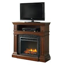 innovative concepts cherry wood corner electric fireplace tv stand