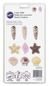 amazon com wilton 2115 1561 seashell candy and lollipop mold