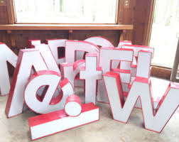 large metal letters etsy