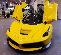 ferrari yellow interior rare laferrari in yellow with black leather seats cars cars