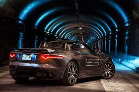 tunnel run in a 2017 jaguar f type svr
