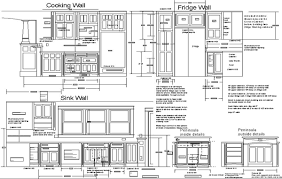 kitchen cabinet dimensions drawings new kitchen style