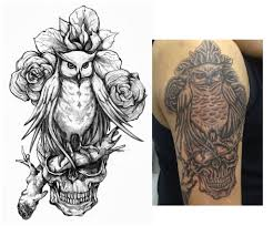 evil owl tattoo collection 86