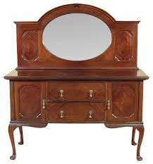 antique mahogany queen anne sideboard buffet server traditional