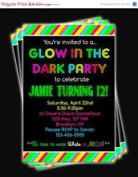 glow in the birthday party glow birthday party invitations oxsvitation