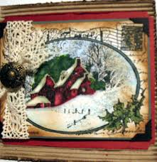 stampendous snowy postcard christmas cards pinterest cards