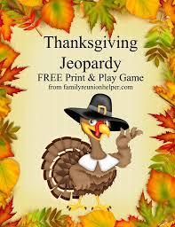 thanksgiving jeopardy printable family reunion helper