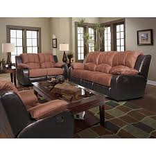 Reclinable Sofas This Reclining Sofa Set Features A Generous Plush Sofa With