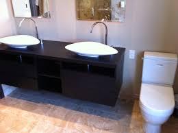 bathroom tile flooring design ideas with white bathroom sink plus