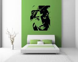 2pac wall sticker decals bedroom lounge graphics large transfer 2pac wall sticker decals bedroom lounge graphics large transfer wall art tupac ebay