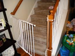 Child Stair Gates Retractable Baby Gates For Stairs With Railings